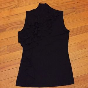 The Limited women's ruffles turtleneck sleeveless